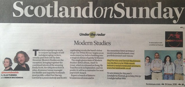 Scotland On Sunday, 19 June 2016, Modern Studies