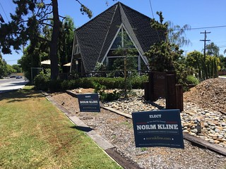 Norm Kline sign Willow Glen 7 June 2016
