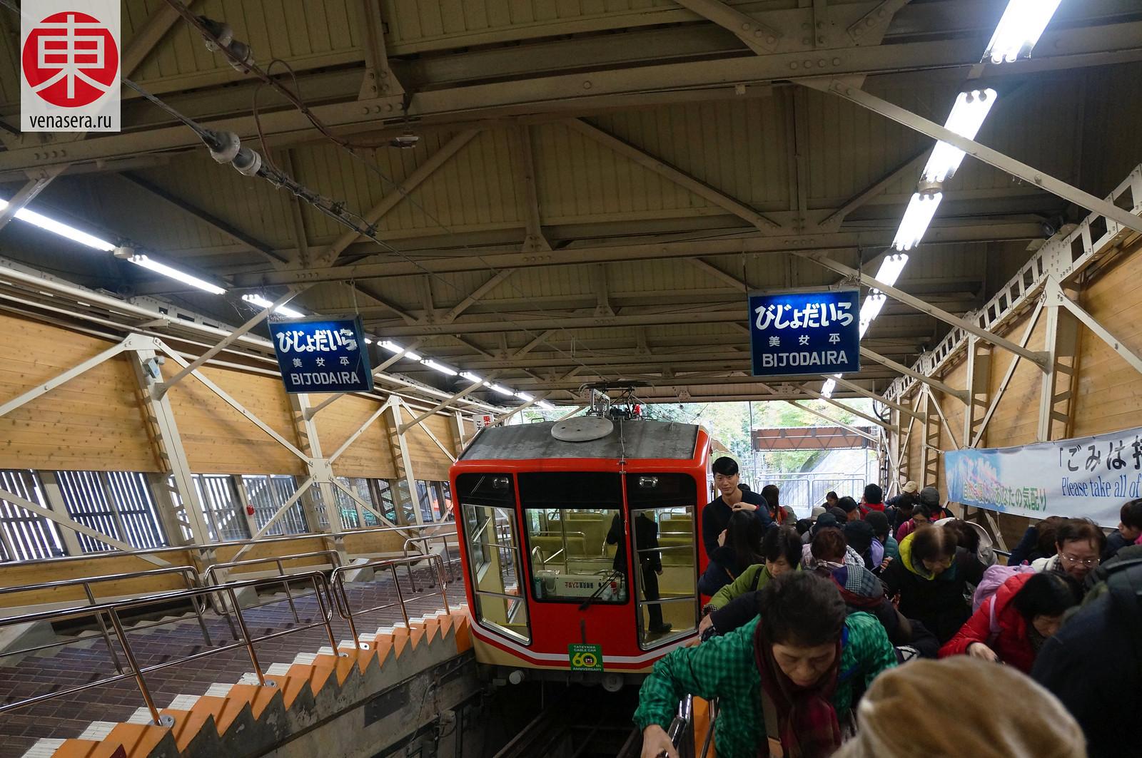 Станция Бидзёдайра (美女平), Японские Альпы Татэяма Куробэ, Татэяма Куробэ, Tateyama Kurobe Alpine Route, 立山黒部, 立山黒部アルペンルート