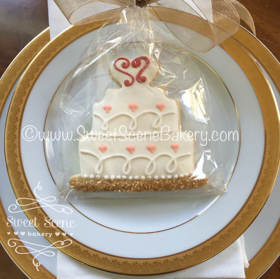 Wedding Cake Cookie Favor | Sweet Scene Bakery | Flickr
