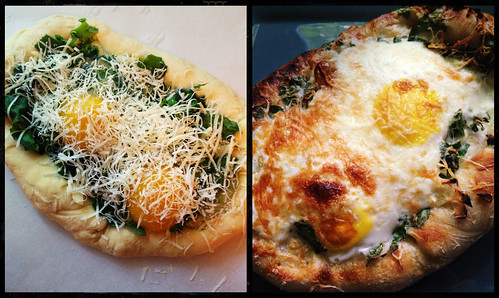 Breakfast Pizza - before, after | by smithsarahjane