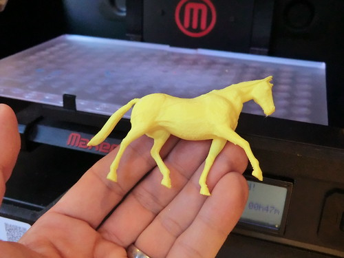 3D printed toy horse figure | by Creative Tools
