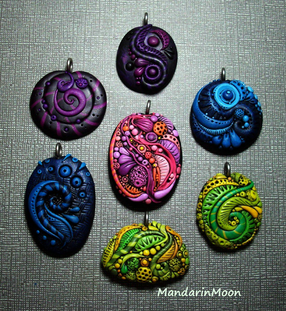 wire at clay com wrapped polymer pendant hour projects faux happy stone happyhourprojects