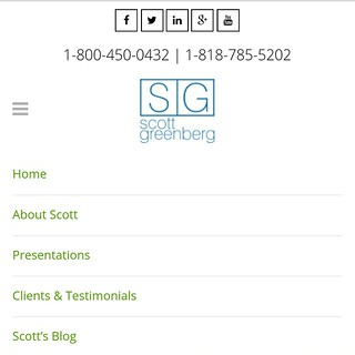 #ResponsiveDesign for www.ScottGreenberg.com built on #wordpress #cms #wp #customtheme | by caspianservices