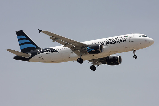 5A-ONN Afriqiyah Airways Airbus A320-214
