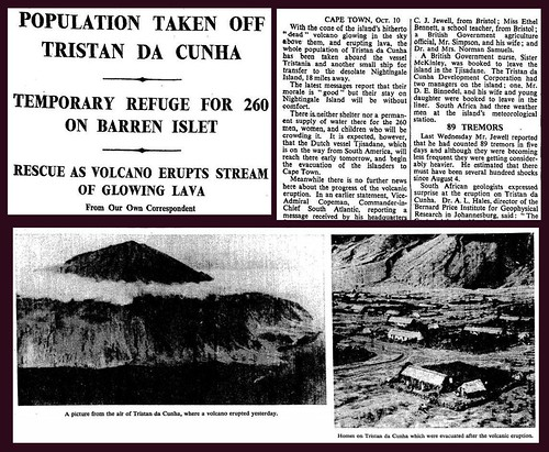 10th October 1961 - Tristan Da Cunha Evacuated | by Bradford Timeline