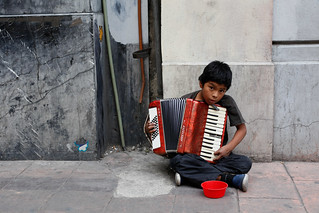 The Busker, Child Portrait, Mexico City | by Geraint Rowland Photography