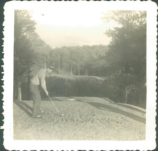 Dad playing golf in the philippines. Late 1950s? early 60s?