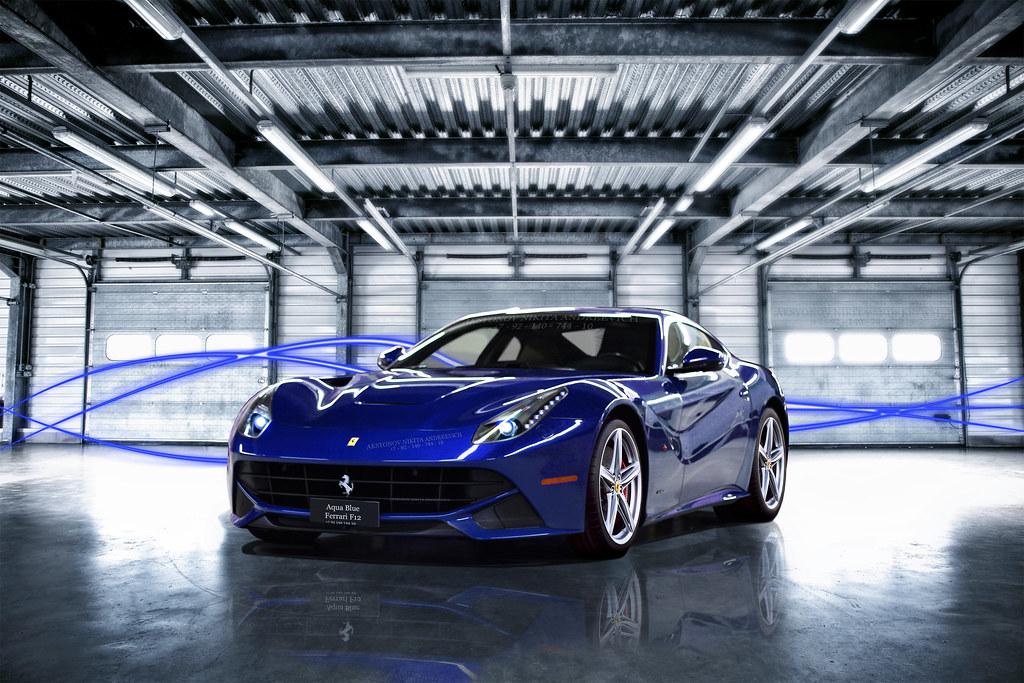 Ferrari F12 Berlinetta Aqua Blue Flickrphotosone Flickr