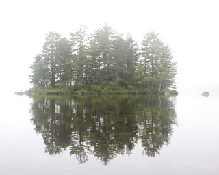 Foggy Morning on West Grand Lake | by David Gallagher