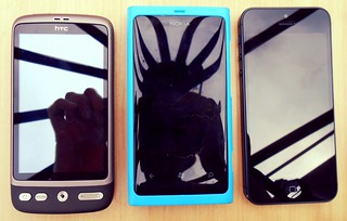 HTC Desire, Nokia Lumia 800, iPhone5 | by :: Wendy ::
