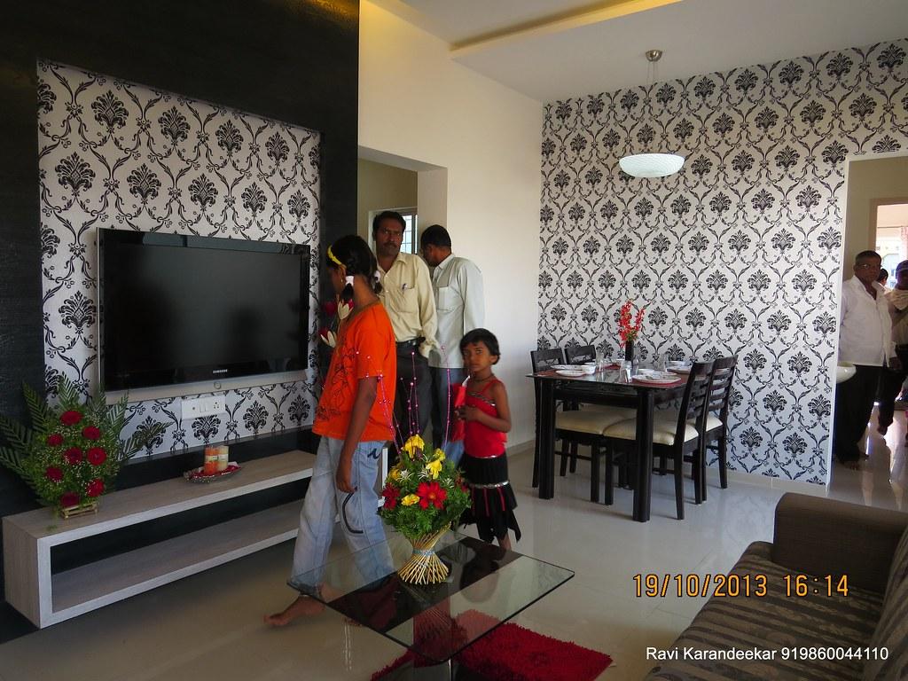1 bhk flat interior design india -  Living Cum Dining Visit 2 Bhk Show Flat Of Vastushodh Projects Urbangram Kolhapur