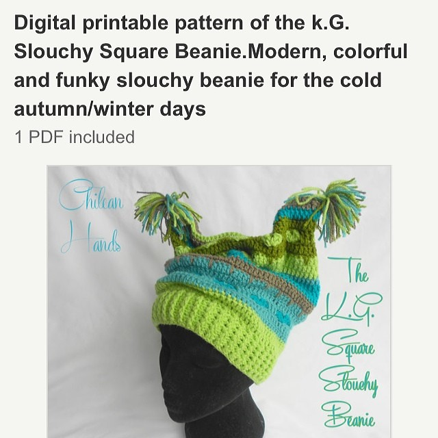 My second digital creation ready for you to purchase  ) ready on my Etsy  site   Chileanhands.  crochet  pattern  slouchy  hat  beanie  etsy  funky   modern ... 1efa354cf7d