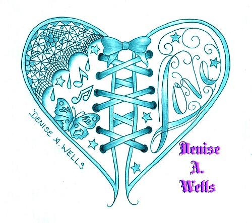 love heart tattoo design by denise a wells love corset he flickr. Black Bedroom Furniture Sets. Home Design Ideas