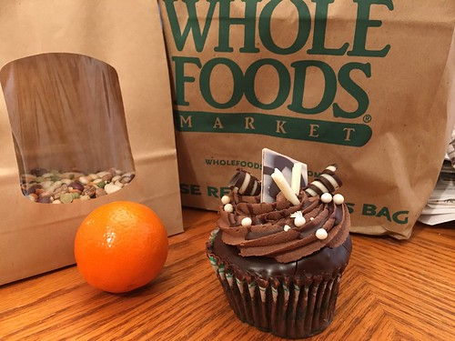 Calico beans, fresh orange and the best cupcake ever. | by Terry the Cat Slave