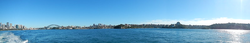 Panoramic of Sydney Harbor From Ferry