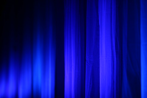White Curtains Blue Room