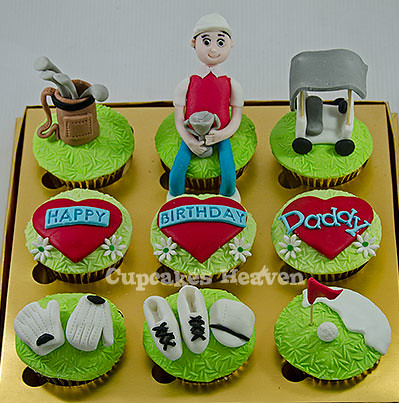 golf themed birthday cupcakes Jakarta Indonesia cupcakes Flickr