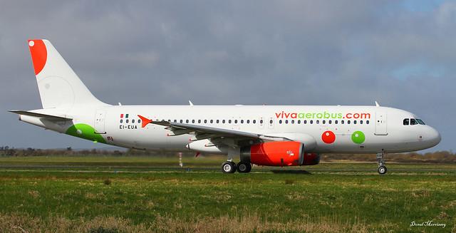 Viva Aerobus A320-200 Freshly Painted EI-EUA