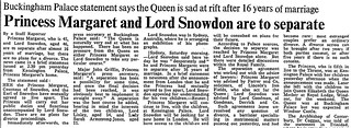 19th March 1976 - Princess Margaret & Lord Snowdon to separate | by Bradford Timeline