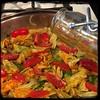 #ZucchiniBlossom #Mushroom #Potato Frittata  #Homemade #CucinaDelloZio -  a drizzle of olive oil