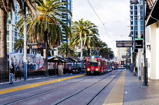 San Diego MTS Light Rail Vehicle at Santa Fe Depot | by vxla