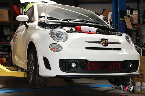 Fiat 500 Abarth Red Intercooler Fiat Abarth 500 Turbo