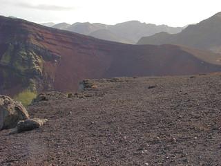 125 Uitzicht bij explosiekrater Ljötipollur