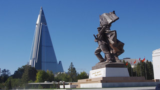 Victorious Fatherland Liberation War Museum and Ryugyong Hotel | by Clay Gilliland