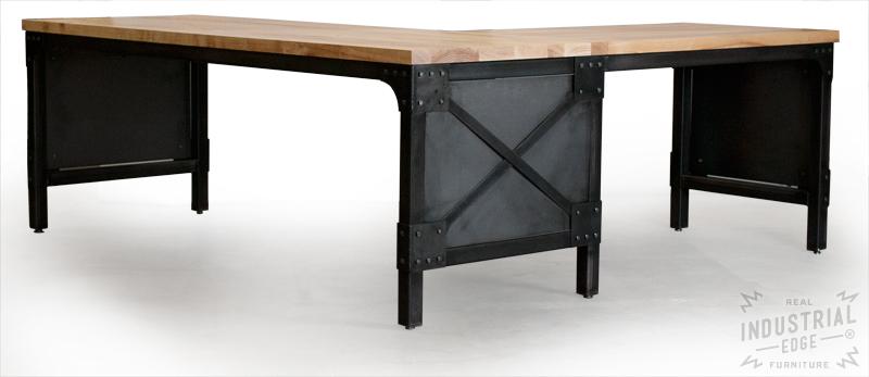 ash wood steel l shaped desk custom industrial desk wo flickr rh flickr com metal l shaped desk with hutch black metal l shaped desk