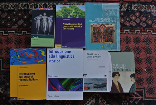 All the books I read during my Erasmus year