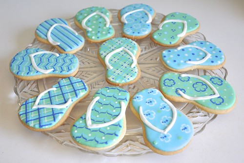 Flip flop cookies for end of summer fun! | by kelleyhart