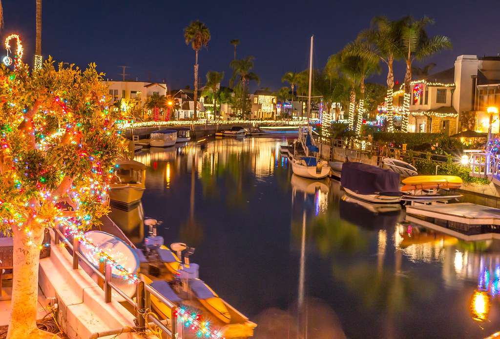 Naples Canals decorated with Christmas lights | Long Beach, … | Flickr