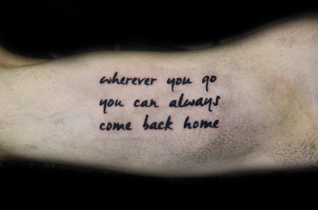 wherever you you can always come back home quote thiago padovani
