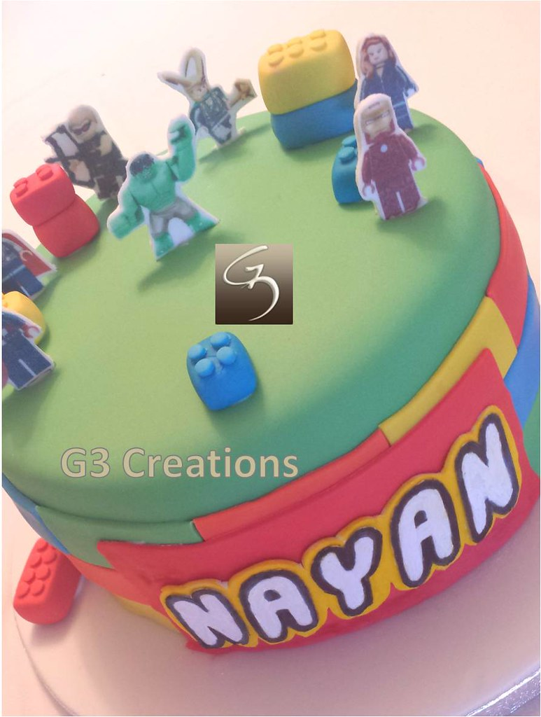 Lego Marvel Heroes Cake Niki Flickr