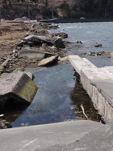 牡鹿半島の小さな漁港
