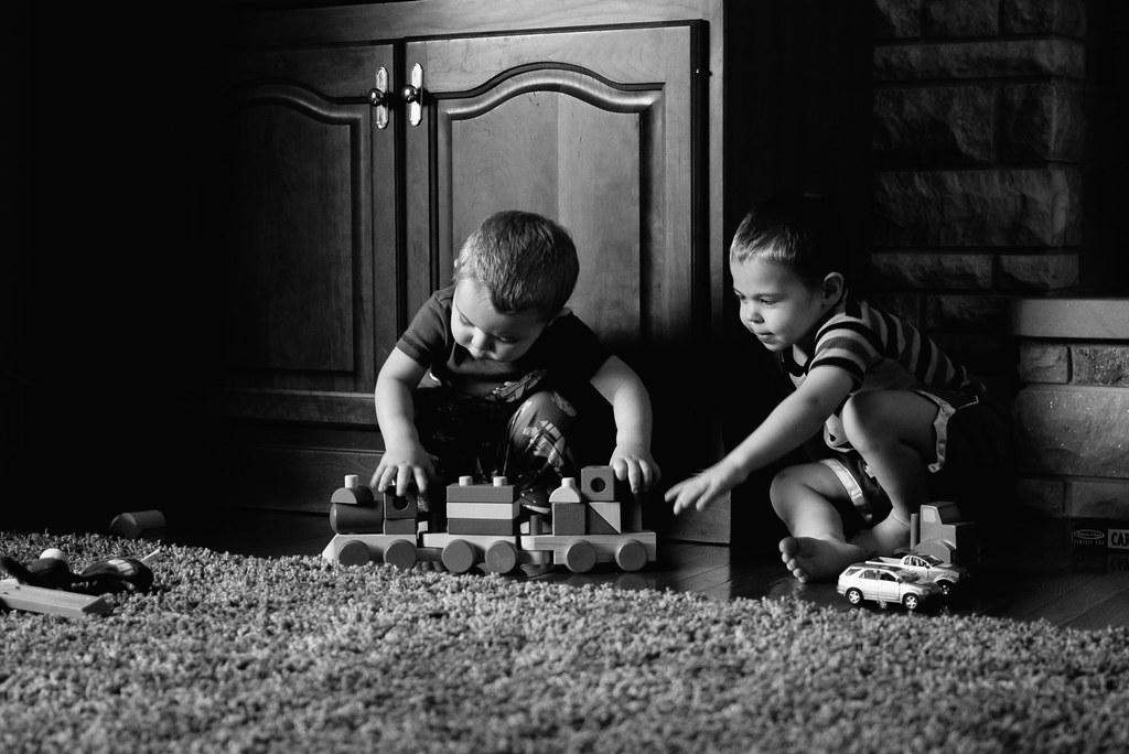 Playing at Grandma and Grandpa's House