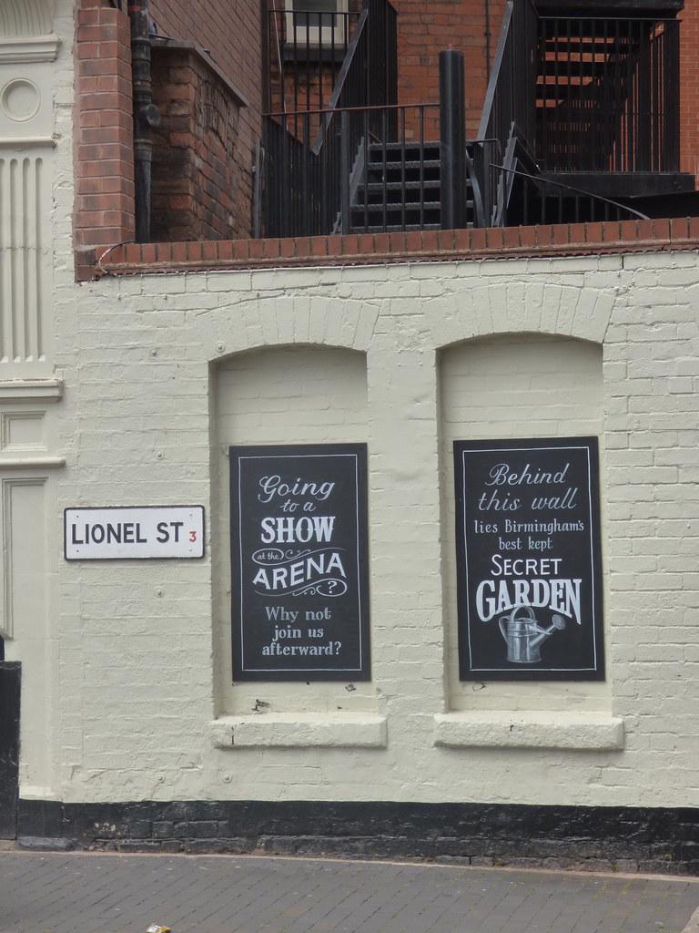secret garden signs, the shakespeare, summer row - signs on lionel street - ano… | flickr, Design ideen