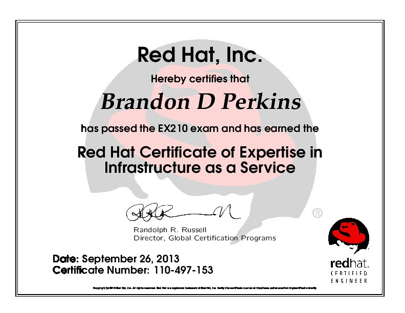 Red Hat Certificate of Expertise in Infrastructure as a Se… | Flickr