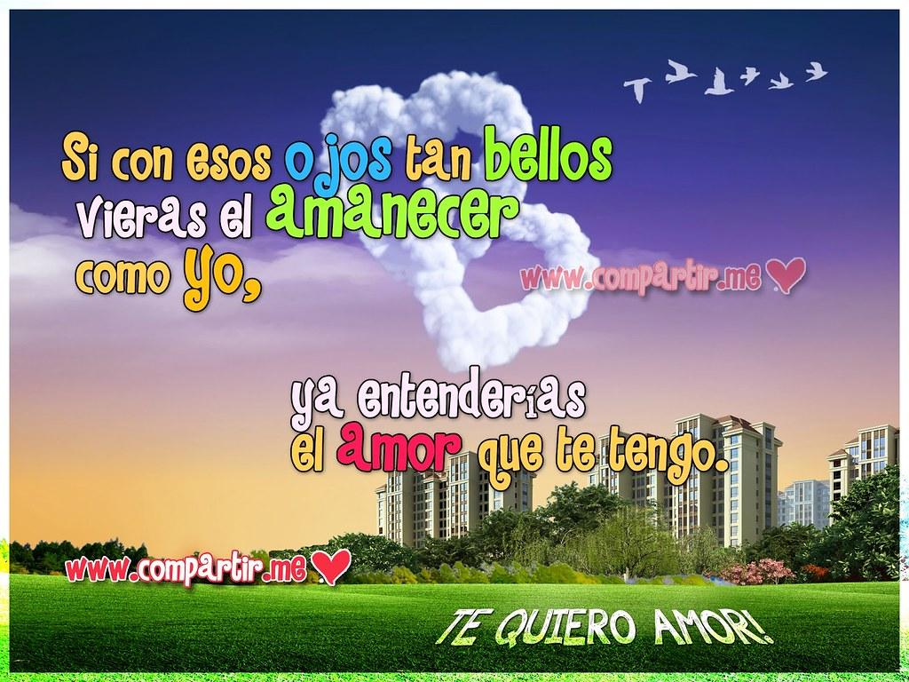 Frases De Amor Imagen Con Nubes De Corazones Y Frase Del Flickr
