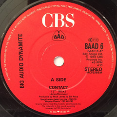 BIG AUDIO DYNAMITE:CONTACT(LABEL SIDE-A)