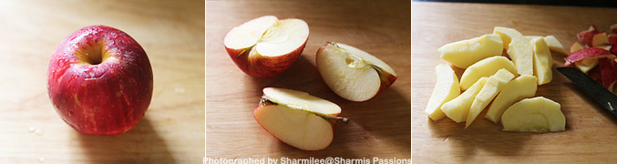 How to make Apple Puree for Babies - Step1