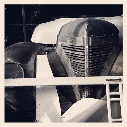 Set Piece #dvc #blackandwhite #theatre #backstage #foundart #automobile #vintage #contrast #clickthing