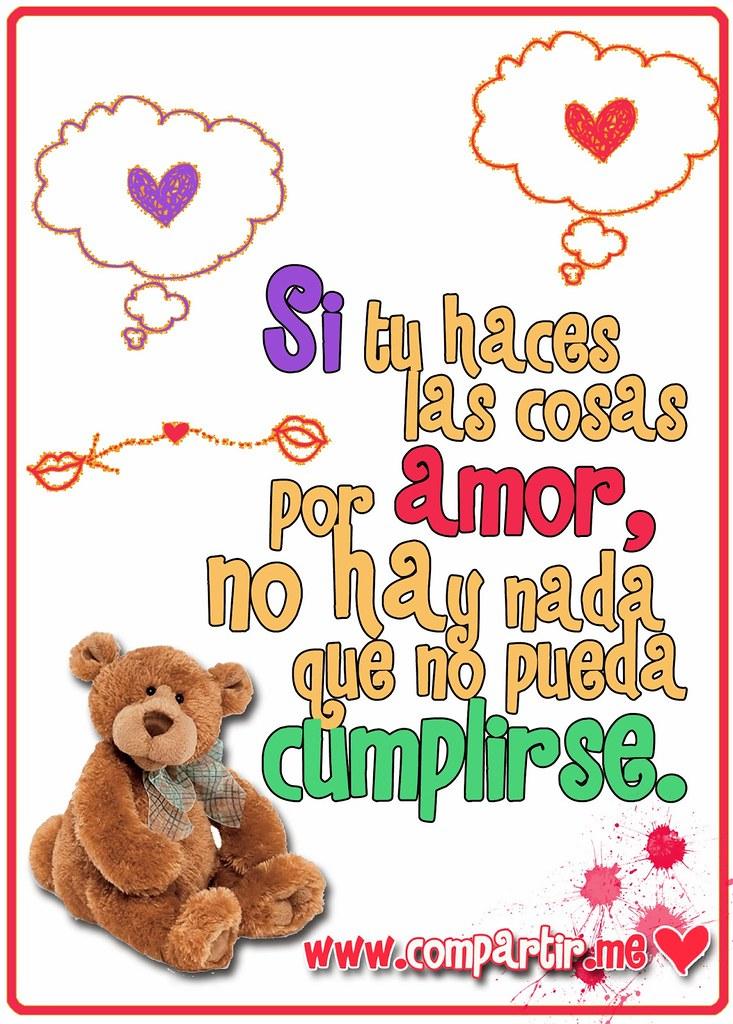 Frases De Amor Tarjeta Con Diseno Y Frase De Amor Para Tu Flickr