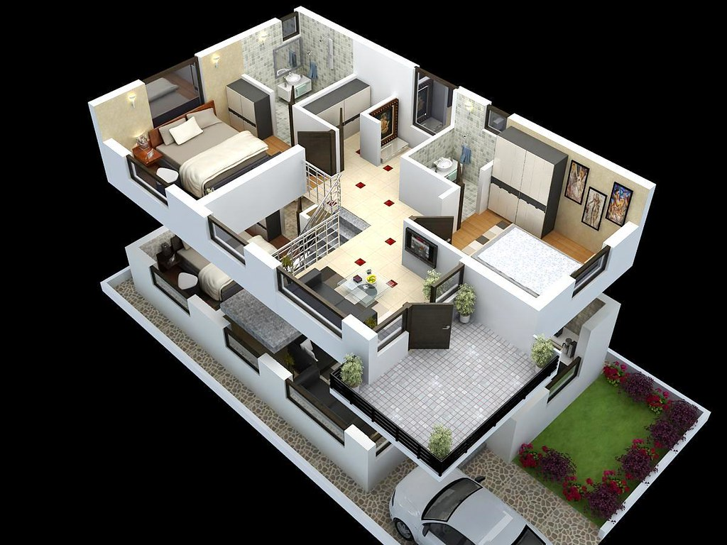 12984174343 0bd3fb76e5 B House Plan 3d Model House Inspiring Home Plan Ideas On 3d Max House Plans