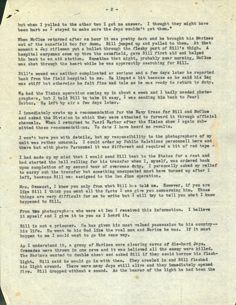 Letter Transcript Donald Dickson To Adelaide Genaust Pag Flickr