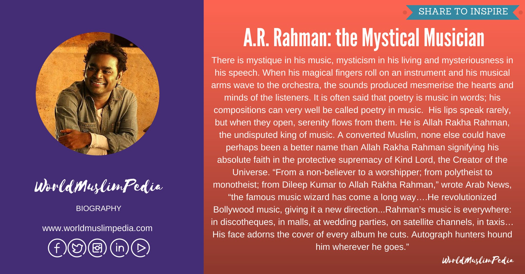 A.R. Rahman- the Mystical Musician