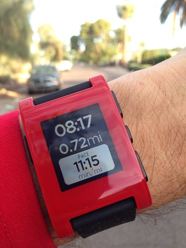 Pebble Watch with RunKeeper | by Moriartys