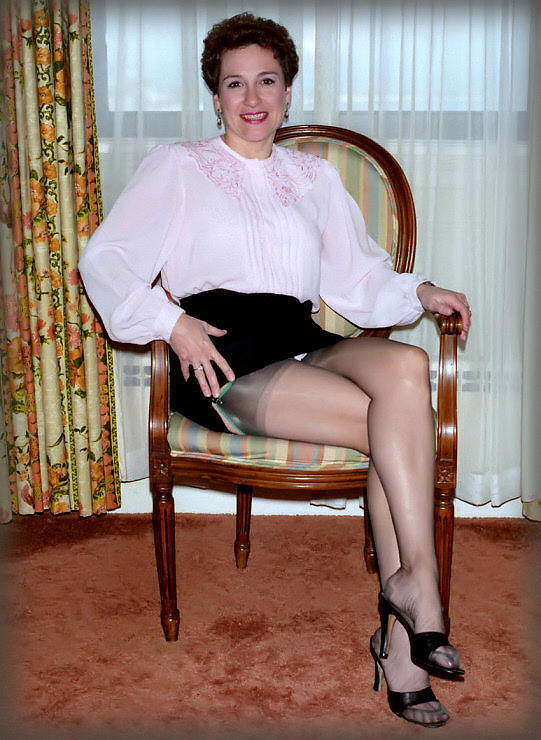 About still pantyhose mature vintage