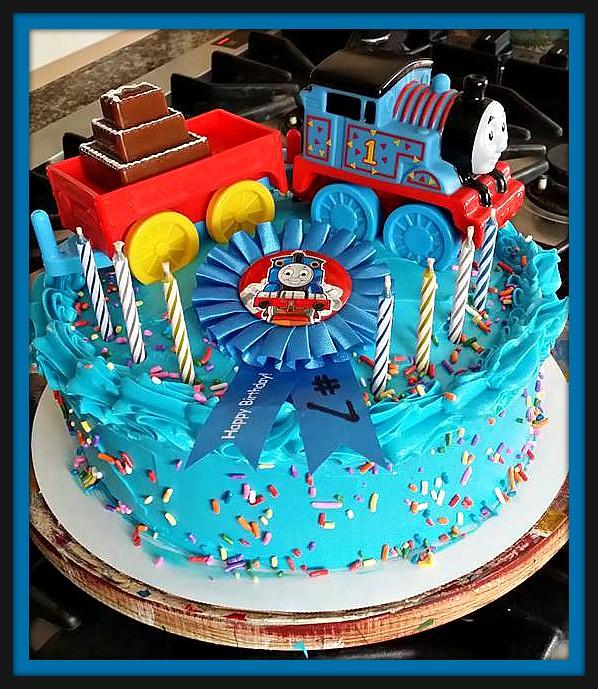 Thomas the Train Cake by Cathy Santa CruzCA wwwbirthda Flickr